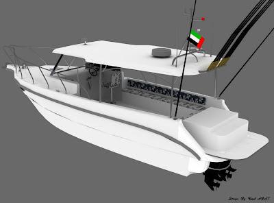 Fiber Balıkçı Teknesi tasarımı